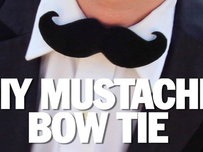 HOW TO MAKE A MUSTACHE BOWTIE!  - DIY - Threadbanger