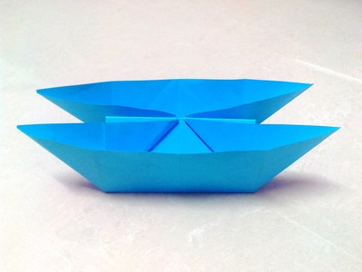 How to make an origami catamaran boat step by step.