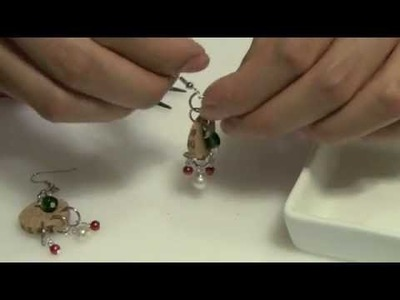 How to make Wine Cork & Bead Earrings