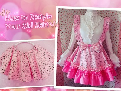 Kawaii DIY - How To Restyle Your Old Skirt to Lolita Jumper Skirt