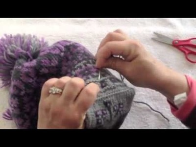 Lining a Knit Hat with Fleece