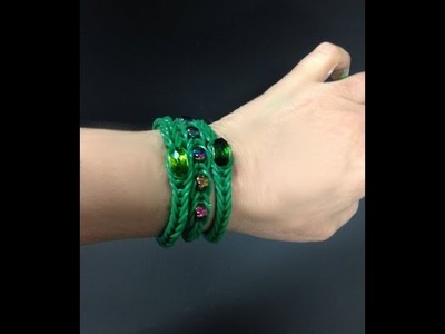 Loopy Band Bracelets with charms or beads