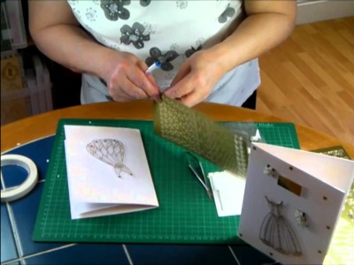 Making Card Projects - Beautiful Golden Dress Project