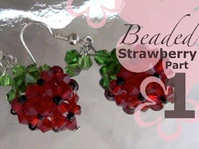 MeiIris' Beaded Sweet Strawberry Earrings Part 1