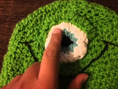Mike from Monster's Inc. crocheted hat!
