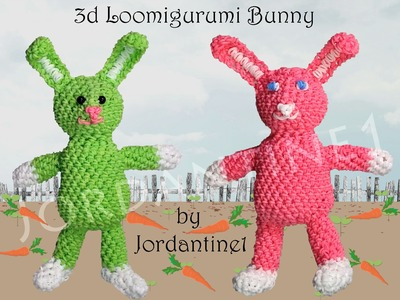 New Easter Bunny Rabbit - Loomigurumi Amigurumi - Rainbow Loom Rubber Band Crochet - Hook Only