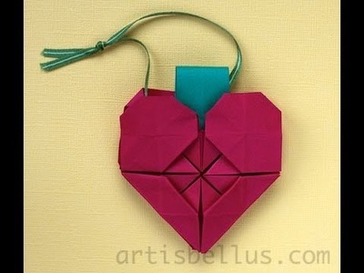 Origami Heart Ornament