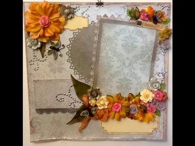 Scrapbook Layout  using quilling - Beautiful