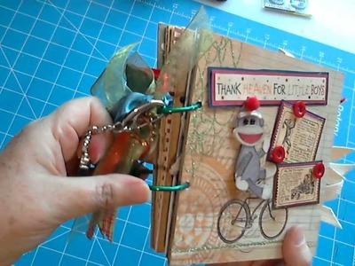 Scrapbookgiggle LITTLE  BOYS Mini Album boy Scrapbooking Paper Bag Albums Cards and Layouts