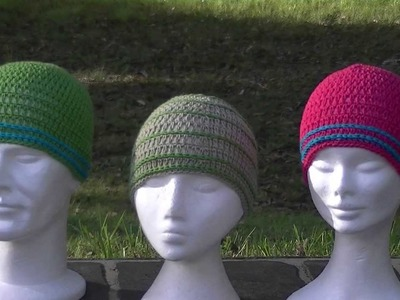 Skinny Stripes Crochet Hat Tutorial