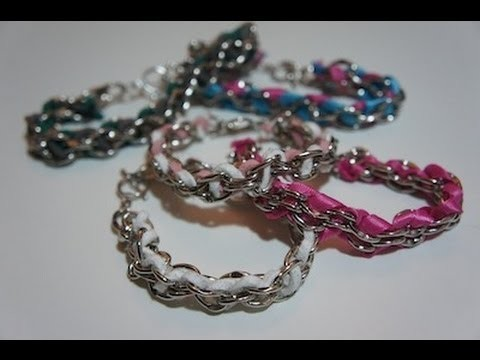 Style File - DIY: Woven Chain Bracelets | Suede and Ribbon