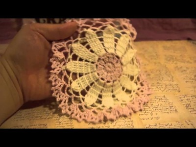 Sweet Daisy Doily and Little Blooms Basket