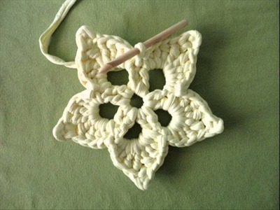Teje una flor de ganchillo, how to crochet a flower coaster