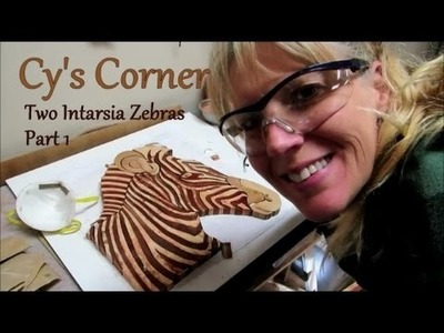 Two Intarsia Zebras, part 1