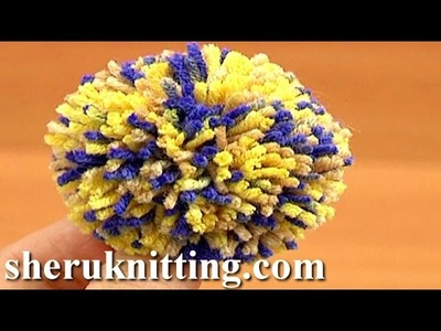 Yarn Pompom Making Tutorial 12 Method 5 of 8 Using Pompom Makers