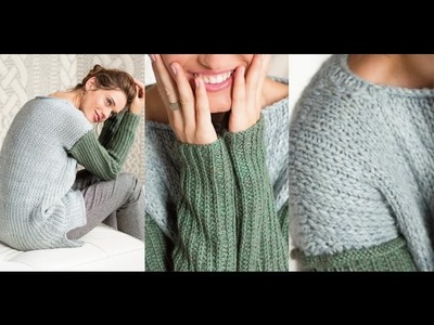 #12 Ribbed Sleeve Pullover, Vogue Knitting Holiday 2014