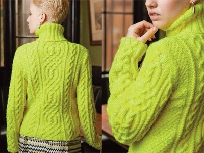 #14 Cabled Turtleneck, Vogue Knitting Winter 2012.13