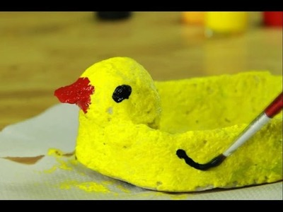 Art and craft videos -paper mesh craft - Paper Duck