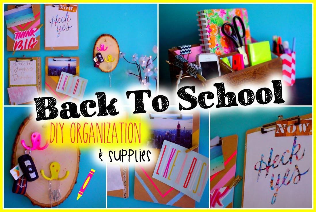 Back to School: DIY Organization & Supplies
