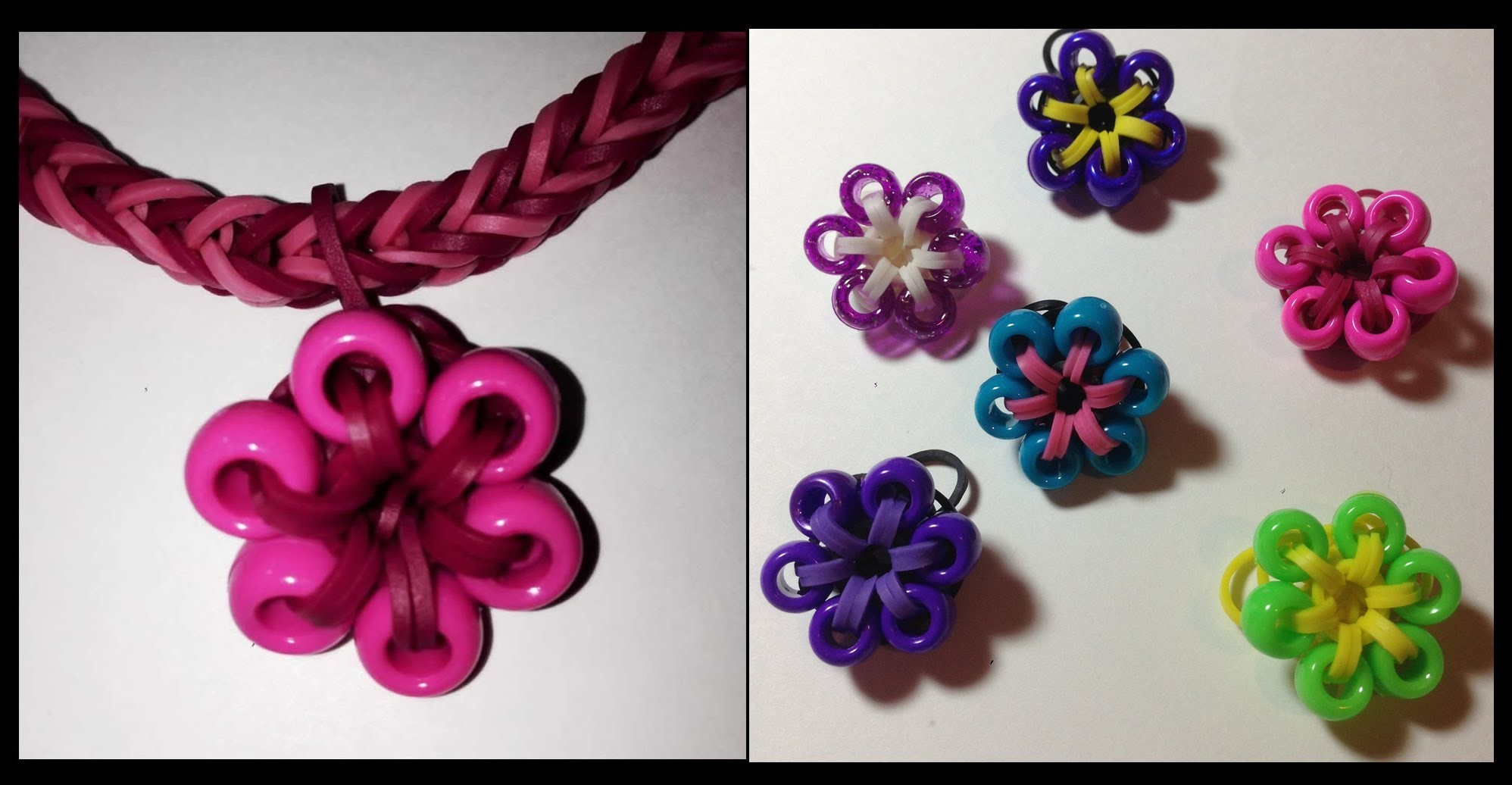 Beaded Flower Charm for the Rainbow Loom