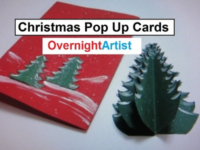 Christmas Crafts -  Pop Up Card & Christmas Tree Craft