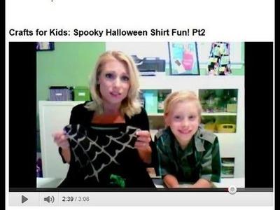 Crafts for Kids: Spooky Halloween Shirt Fun!