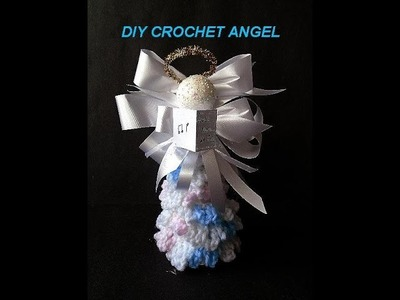 CROCHET ANGEL how to diy, transform crochet christmas tree into a Christmas angel
