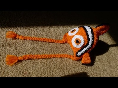 Crochet Clownfish Hat (Size 6.12 Months)