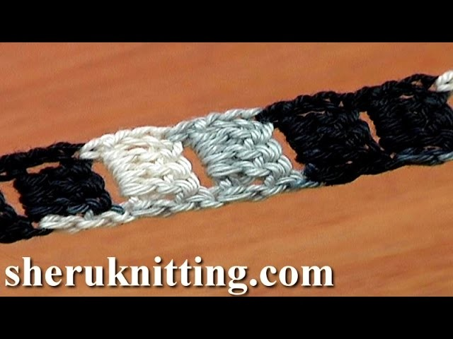 Crochet Cord Long Holes Tutorial 9