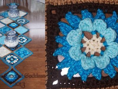 Crochet: Granny Square Tablerunner