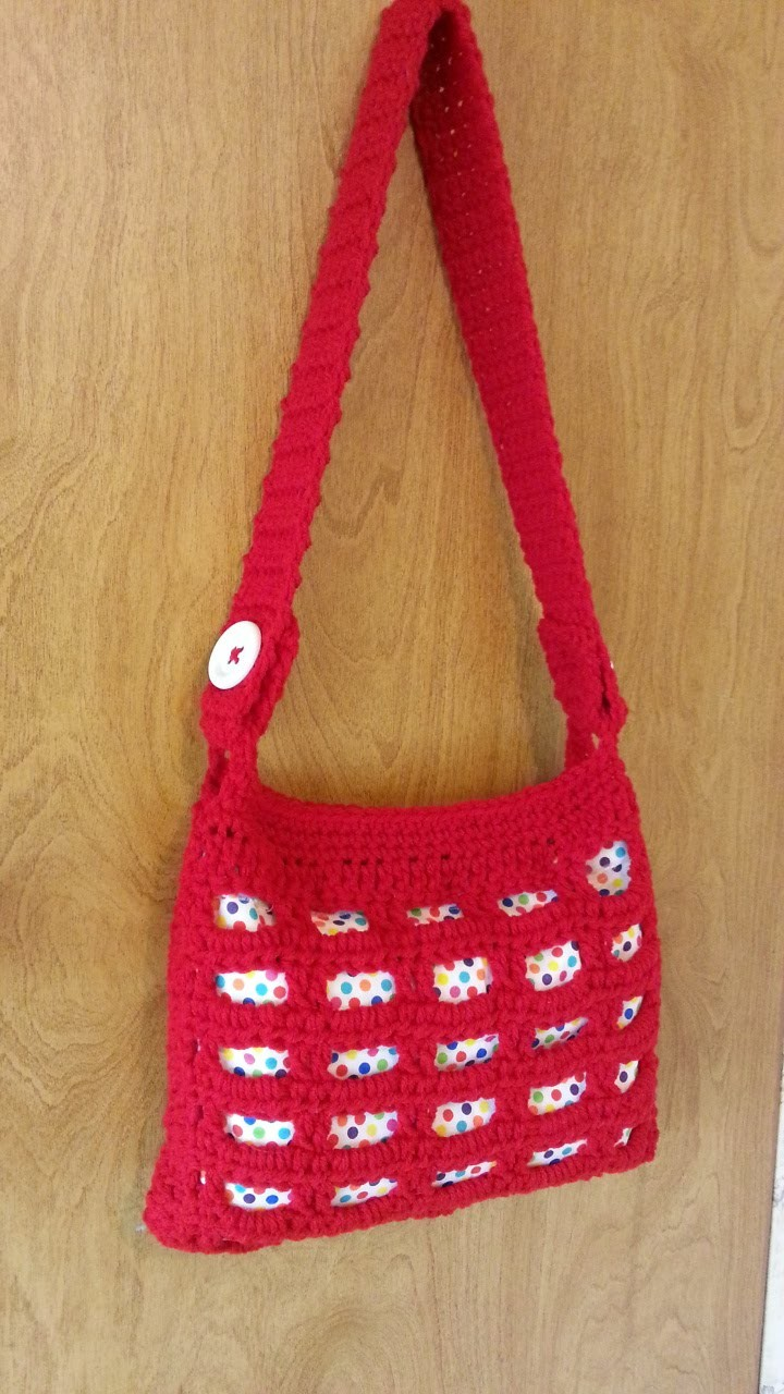 #Crochet Handbag Purse with lining #TUTORIAL
