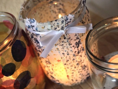 DIY: 5 Ways how to decorate Jars into Candles - Home Decor