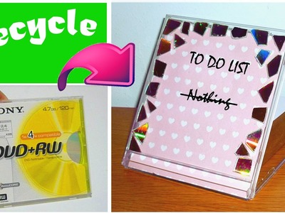 DIY back to school organization! Dry erase TO DO LIST out of a CD box!