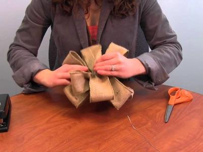 DIY Burlap Bow