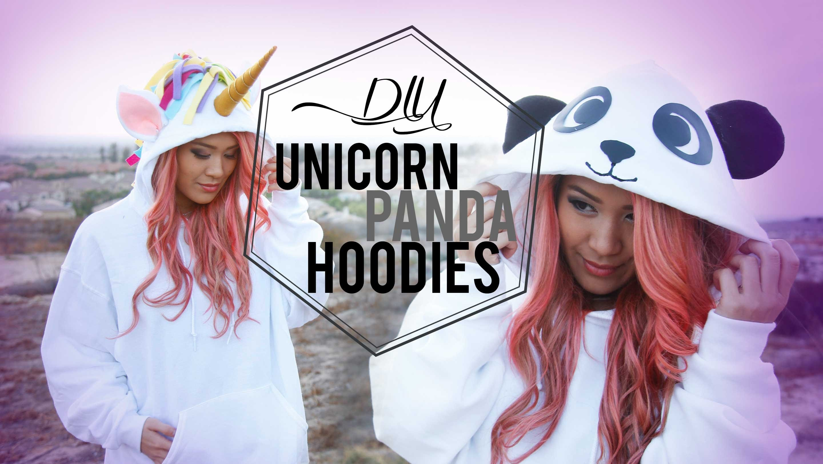 DIY Cosplay Unicorn & Panda Costume Hoodies | ANNEORSHINE
