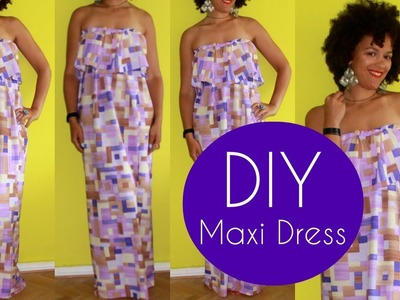 DIY Cute Maxi Dress | Sewing For Beginners