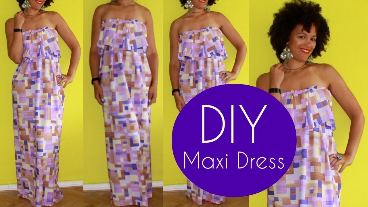 DIY Cute Maxi Dress | Sewing For Beginners