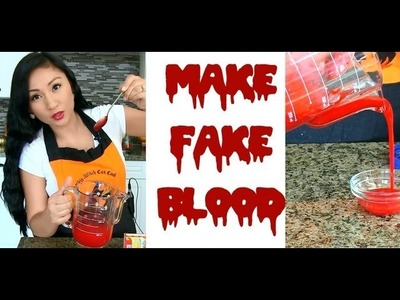 DIY FAKE BLOOD RECIPE FOR HALLOWEEN
