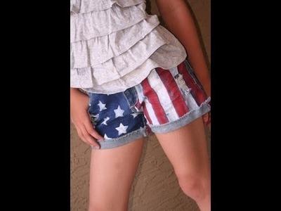 DIY: Flag Shorts