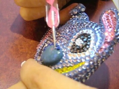 DIY Japanese Deco-Den Tutorial: Bling Bling Stitch KeyChain