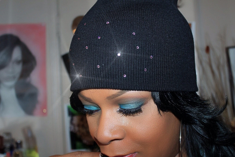 ♥DIY. Jazz up a basic beanie with Swarovski Crystals♥