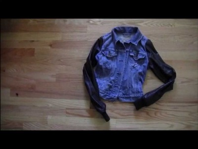DIY: Leather Sleeved Denim Jacket