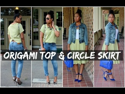DIY Origami Top + Circle Skirt