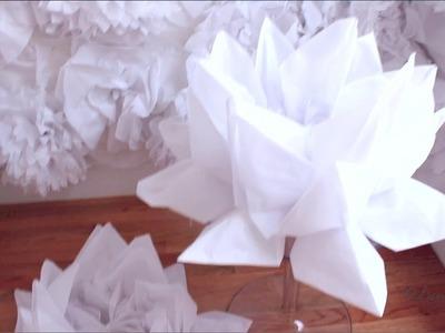 DIY| Tissue flower background pt 4