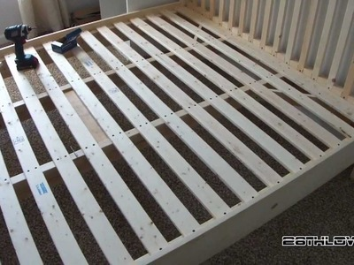 DIY: Wooden Bed Frame.  (Pine)