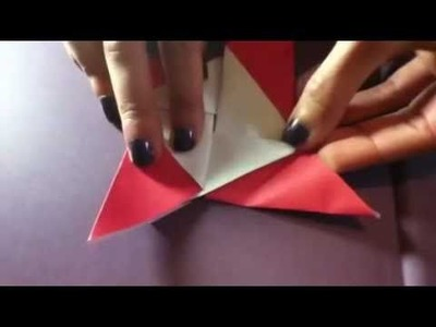 Folding Bright Star Valentine Origami Puzzle Purses - Envelopes