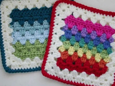 Granny Stripes Squared Crochet Pattern