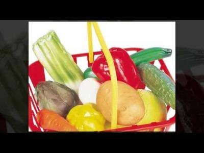 Guidecraft G335 Play Toy Food Set Vegetable Basket For Kids