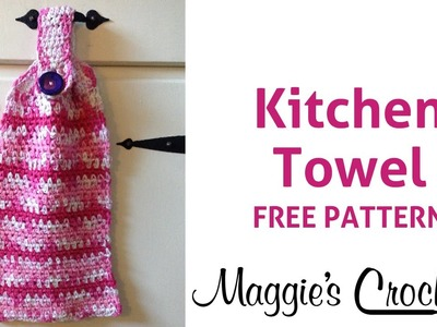 Home Cotton Kitchen Towel Free Crochet Pattern - Right Handed
