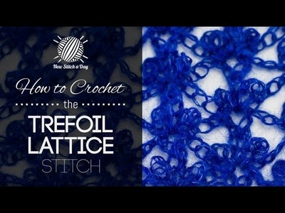 How to Crochet the Trefoil Lattice Stitch